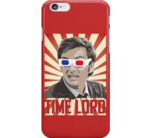 Time Lord With 3D Glasses iPhone Case/Skin