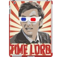Time Lord With 3D Glasses iPad Case/Skin
