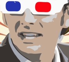 Time Lord With 3D Glasses Sticker