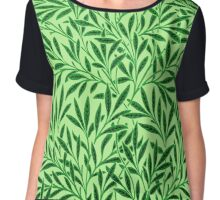 William Morris Willow, Light Jade Green  Chiffon Top