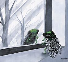 Cicada Spends Entire Year Screaming After Seeing Own Reflection by illustrarticles