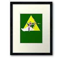 Super Smash Bros Zelda  Framed Print