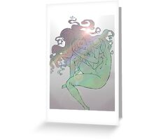 Lady Comatose Greeting Card