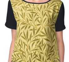 William Morris Willow, Mustard Yellow Chiffon Top