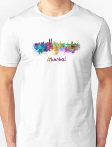 Mumbai skyline in watercolor T-Shirt