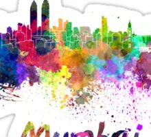 Mumbai skyline in watercolor Sticker