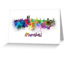 Mumbai skyline in watercolor Greeting Card