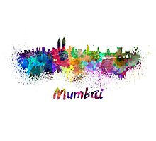 Mumbai skyline in watercolor Photographic Print