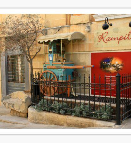 Restaurant Rampila, St. John's Cavalier, Valletta, Malta Sticker