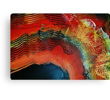 Red gold black abstract paintng Canvas Print