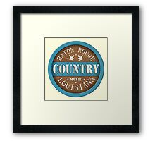 Vintage baton rouge country music  louisiana Framed Print