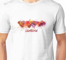 Sheffield skyline in watercolor Unisex T-Shirt