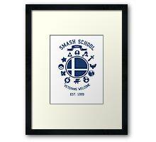 Smash School Veteran Class (Blue) Framed Print