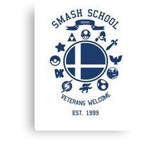 Smash School Veteran Class (Blue) Canvas Print