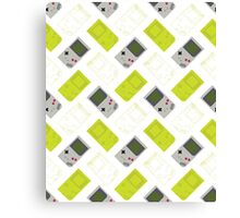 Gameboy mixed pattern (white) Canvas Print
