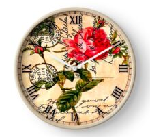 Rose with leaves Clock