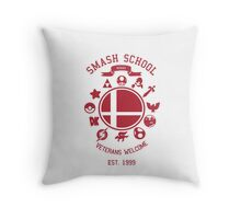 Smash School Veteran Class (Red) Throw Pillow