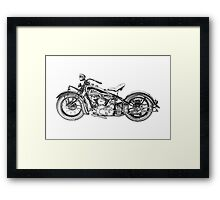 1937 Indian Chief Motorcycle Framed Print