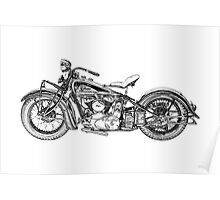 1937 Indian Chief Motorcycle Poster
