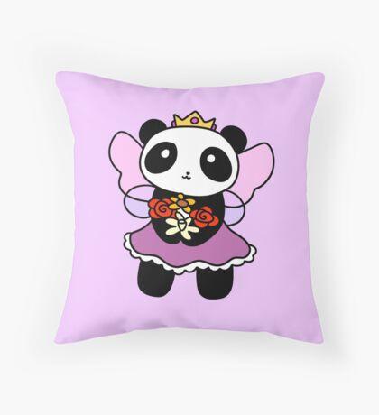 Fairy Princess Panda Throw Pillow