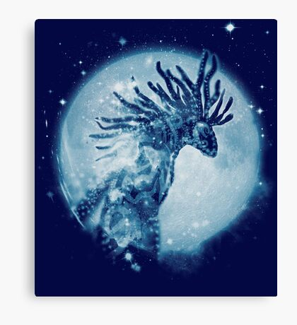 forest spirit nebula Canvas Print