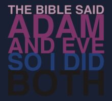 The Bible said Adam and Eve so I did both. Kids Clothes