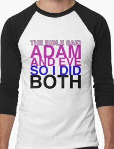 The Bible said Adam and Eve so I did both. Men's Baseball ¾ T-Shirt
