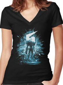 samus storm Women's Fitted V-Neck T-Shirt