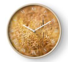 Golden cereal plant detail Clock
