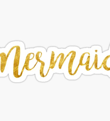 Mermaid | Golden Sticker