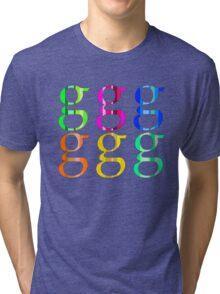 Colorful Letter G Tri-blend T-Shirt