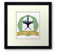 Frag - Bucket Series Framed Print