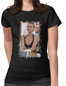 Margot Robbie - Oil Paint Art Womens Fitted T-Shirt