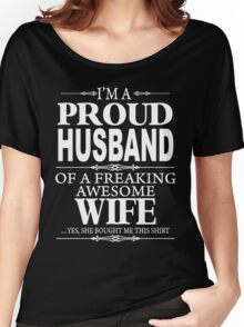 I'm a proud Husband xmas shirt Women's Relaxed Fit T-Shirt