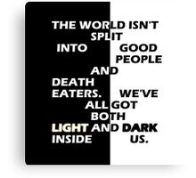Good People and Death Eaters Canvas Print