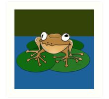 A Very Content Frog Art Print