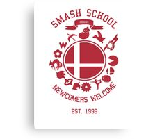 Smash School Newcomer (Red) Canvas Print