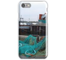 Fishing nets and boats iPhone Case/Skin