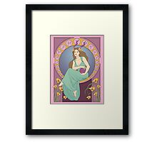 Art Nouveau Dragonborn Kira Framed Print