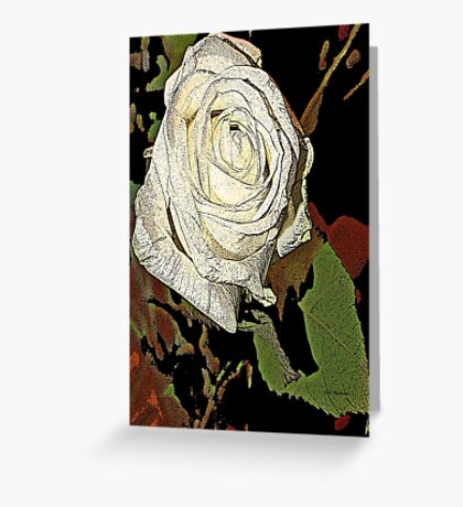white roses of romance  Greeting Card