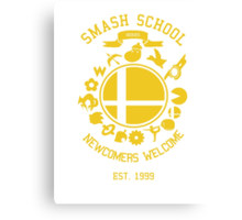 Smash School Newcomer (Yellow) Canvas Print