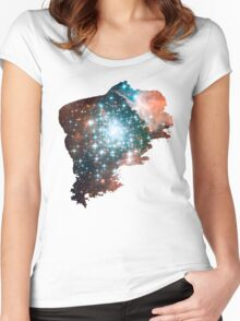 Brush Cosmic Women's Fitted Scoop T-Shirt