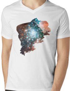 Brush Cosmic Mens V-Neck T-Shirt