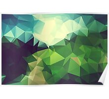 Green Hill Polygon Poster