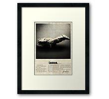 Firefly Lemon Framed Print