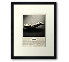 Firefly Lemon Framed Print
