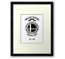 Smash School United (Black) Framed Print