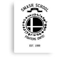 Smash School United (Black) Canvas Print