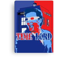 Police Public Call Box Time Lords Obama Hope Style Canvas Print