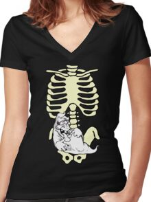 Halloween Candy Please Women's Fitted V-Neck T-Shirt
